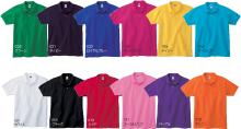 ジュラン(Jellan) 6.8オンス コットン・ポロシャツ for Woman 色見本:12色:グリーン、ネイビー、ロイヤルブルー、ホットピンク、デイジー、ターコイズ、ホワイト、ブラック、レッド、コーラルピンク、パープル、オレンジ